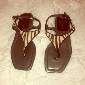 Linea Paolo Zebra Sandals